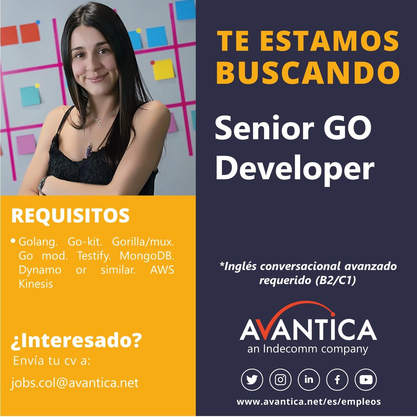 Senior Go developer